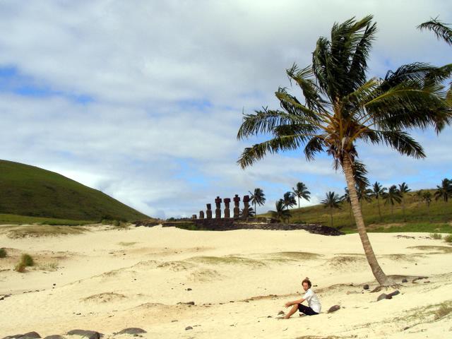Palm trees, maoi and myself